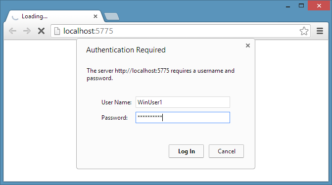 Contacts server requesting authentication