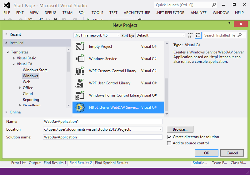Creation of a Windows Server WebDAV Application based on HttpListener