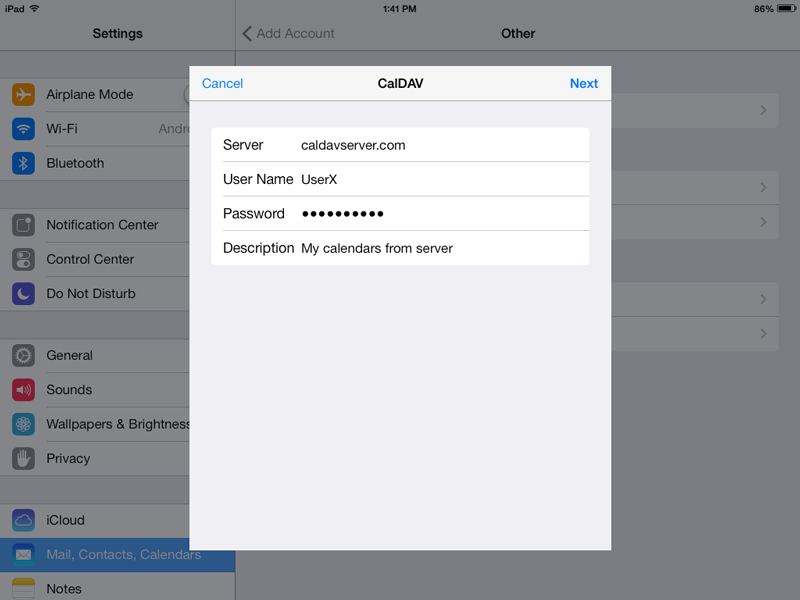 Sync Calendar with iPhone or iPad