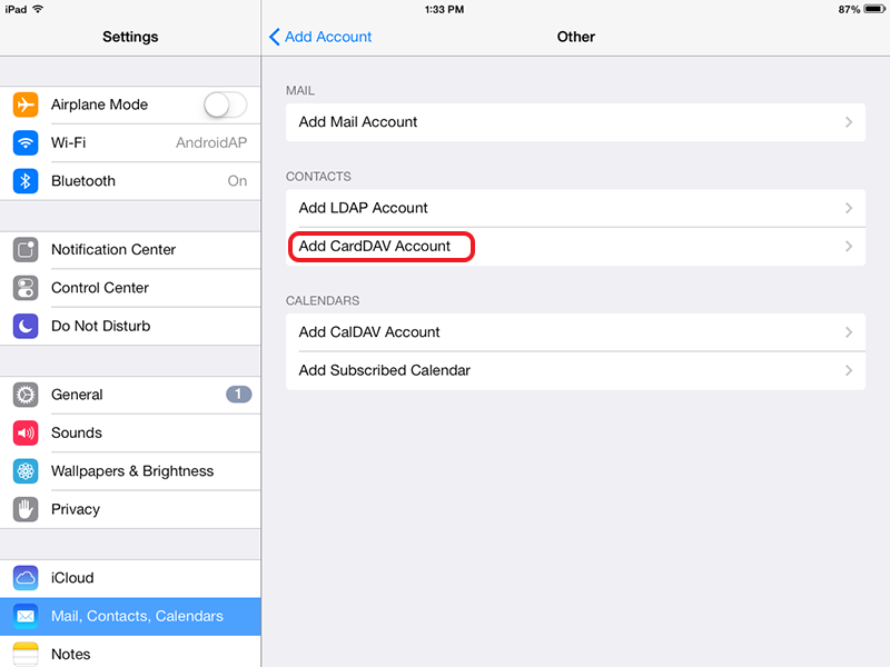 how to add contacts to hotmail on ipad
