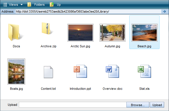 Image preview mode in IT Hit AJAX File Browser