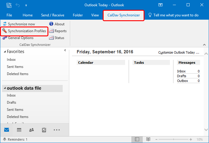 outlook for mac caldav support