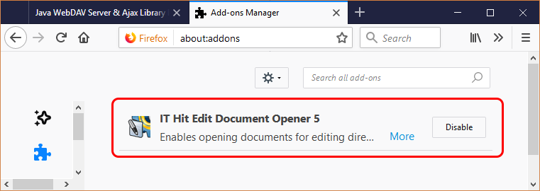 If the protocol app is not functioning in FireFox, check the if Edit Document Opener web browser extension is installed and enabled.