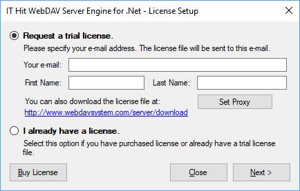 Set license